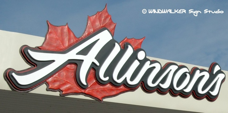 Re-branding a store using their family name carved in 3d
