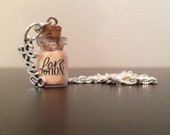 Love Potion Mini fles ketting - 20 inch Chain - liefde charme