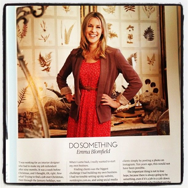 Hello giant picture of myself in MindFOOD magazine!