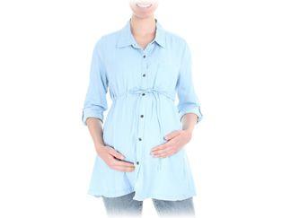 Blusa estilo cazadora azul cielo para Dama Motherhood