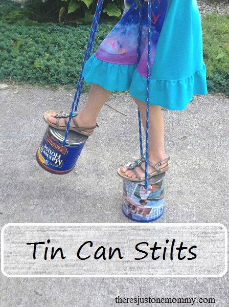 how to make tin can stilts