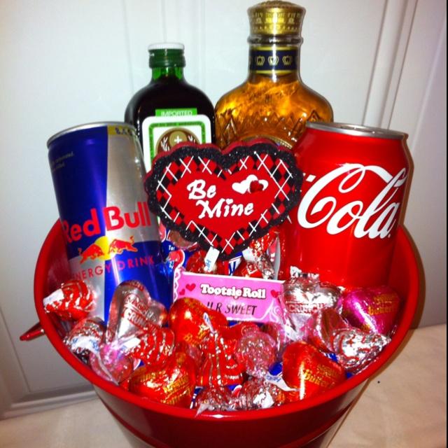 Custom Valentine Basket Candy Bouquet Gift Baskets Valentine