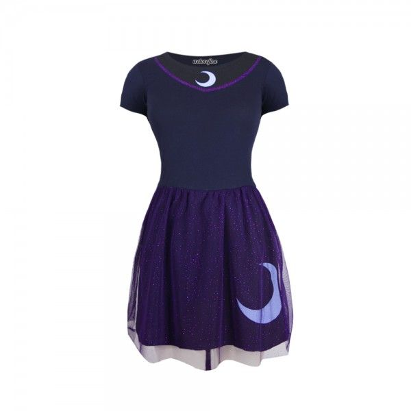 I'm thinking black boots and a cute black crop sweater.  What about you?  I am Princess Luna Fit and Flare Dress from welovefine.com - $38