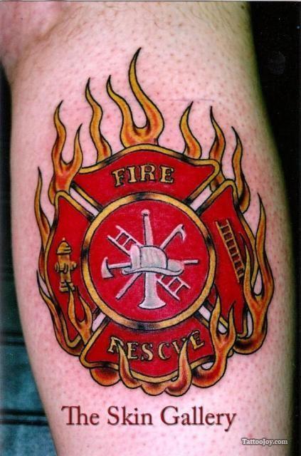 fire fighter tattoos | Firefighter Crest Tattoo