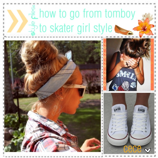 """Style Files: From Tomboy to Skater Girl"" by tipsters-and-we-know-it ❤ liked on Polyvore"