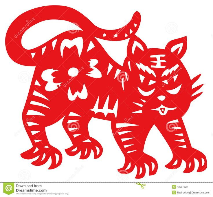 Chinese traditional paper-cut,chinese zodiac of tiger. Asian Horoscopes The Strong Favourite