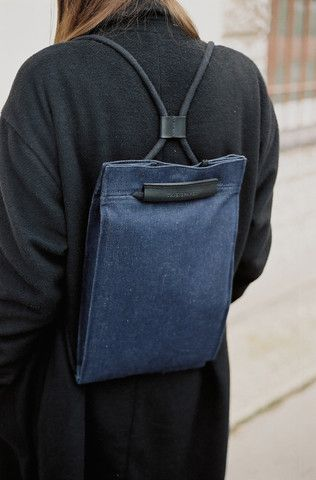 Pocket Bag Medium Denim | @andwhatelse