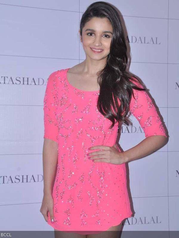 Alia Bhatt poses during the launch of fashion designer Natasha Dalal's label named Natasha Dalal at Ave 29, in Mumbai.