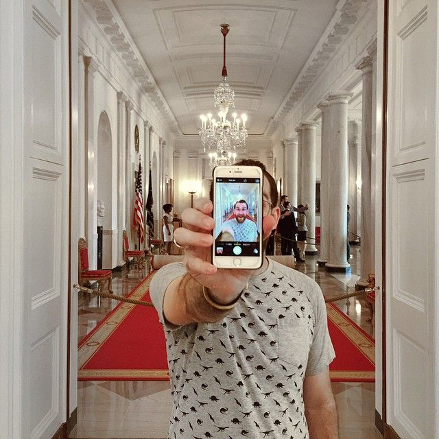 Today I had the honor of being a part of history. After a 40 year photo ban at the White House, you're now allowed to take photos inside the White House!  So thankful for the opportunity to be a part of this monumental day and being one of the first people to take a selfie in the White House!  Check out my entire adventure on Snapchat (cubbygraham)! #WhiteHouseTour  by: @zachspassport