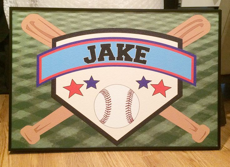 The perfect bulletin board for a baseball enthusiast! Decorate a room and pin up your best baseball shots. #baseball #bsaeballbulletinboard