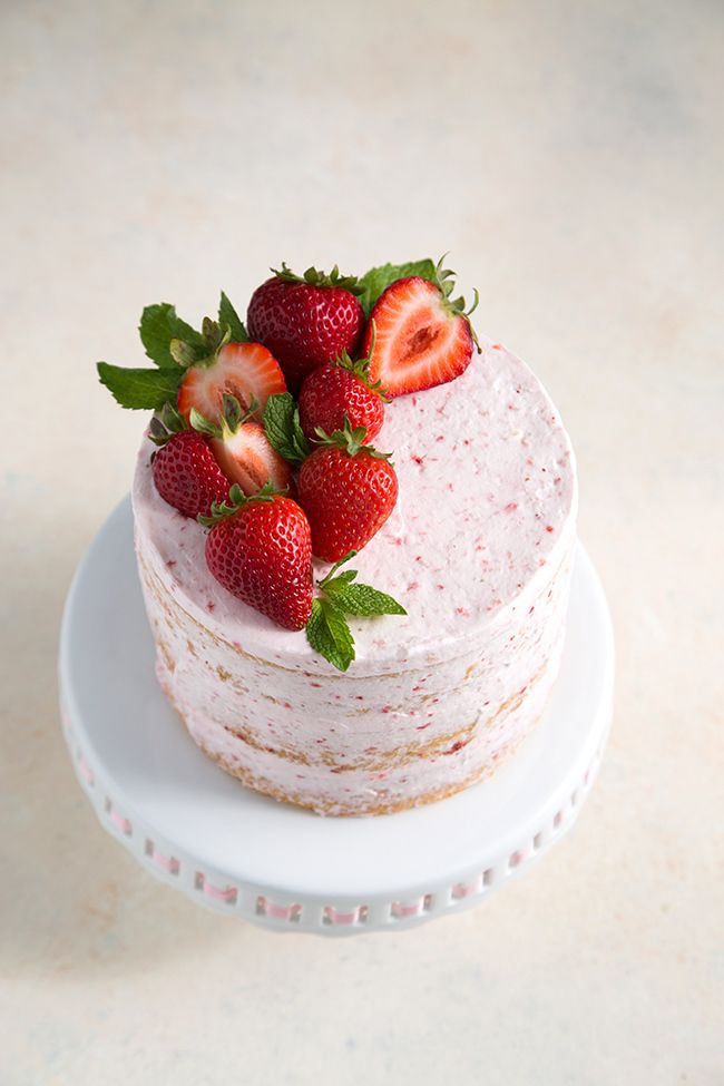 This strawberry lemon olive oil cake combines two summer flavors into one tasty treat.