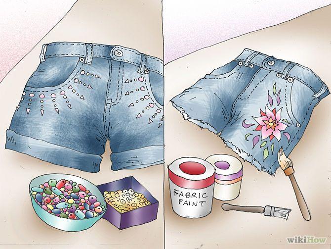 M s de 1000 im genes sobre pintura en tela en pinterest - Decorar pantalones vaqueros ...