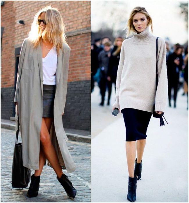 Ankle Boot como protagonista do inverno: combine elas com cores mais básicas, dando um toque chique à combinação de saia e casacão
