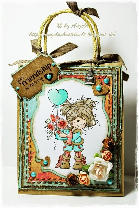 ♥ kleines Geschenktütchen mit Papieren von Studiolight ♥