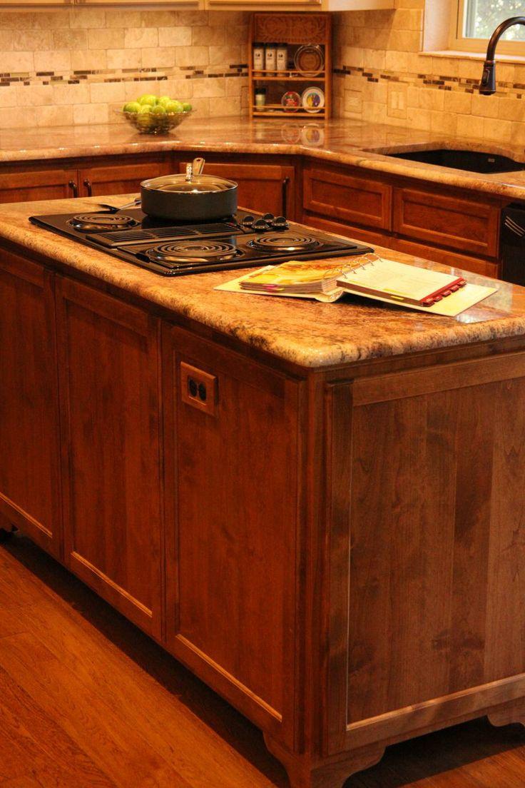 Best Custom Cabinet Island Granite Countertop Tumbled Marble 400 x 300