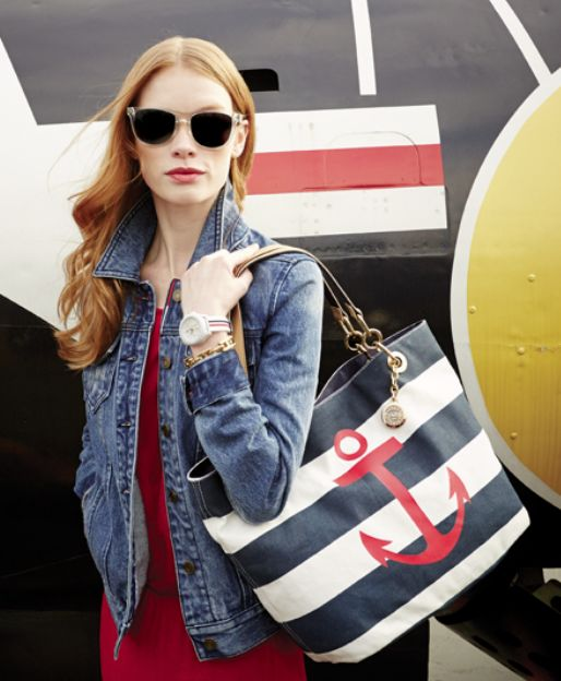 Tommy Hilfiger canvas tote — anchors aweigh!