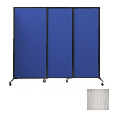 """Versare Afford-A-Wall Sliding Portable Partition Color: Clear, Size: 70"""" H x 100"""" W"""