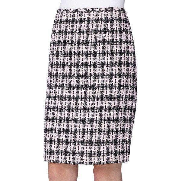 Tahari Arthur S. Levine Petite Boucle Pencil Skirt ($79) ❤ liked on Polyvore featuring skirts, petite, tahari by arthur s. levine, knee length pencil skirt, boucle skirt, petite pencil skirt and zipper pencil skirt
