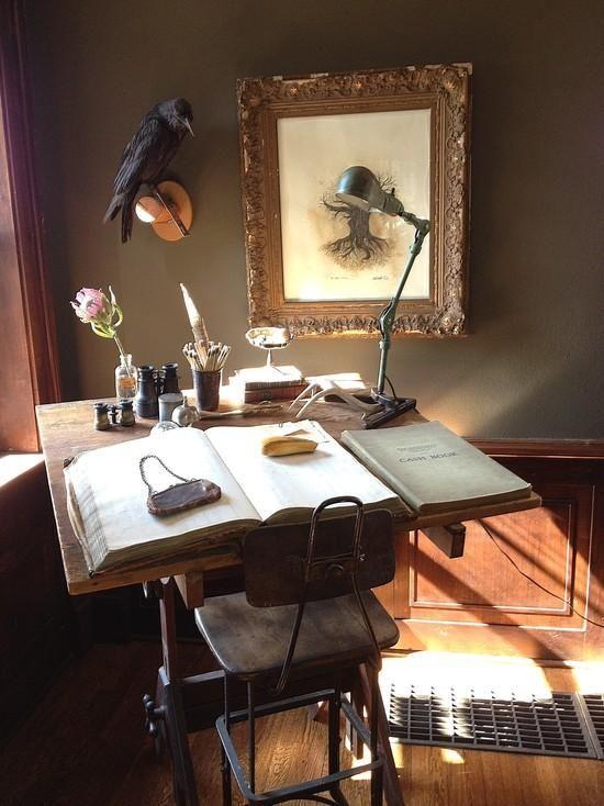 39 best VICTORIAN images on Pinterest Victorian, Antique furniture - halloween desk decorations
