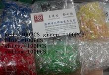 US $5.88 500Pcs/lot 3MM LED Diode Kit Mixed Color Red Green Yellow Blue White. Aliexpress product