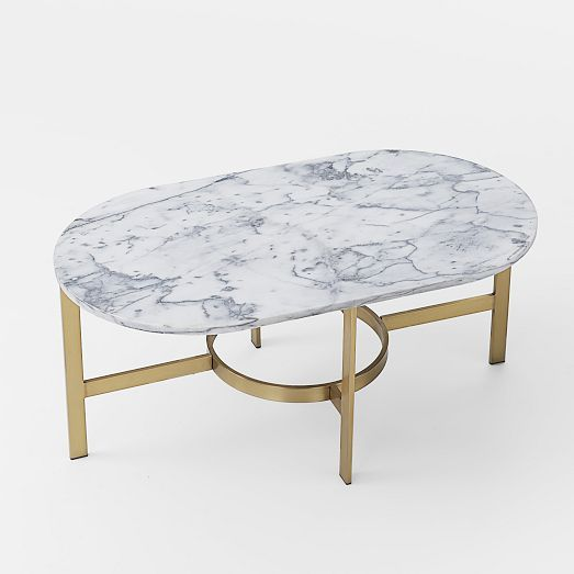 Marble Coffee Table : Marble Oval Coffee Table from west elm. Pair with velvet sofa for a ...