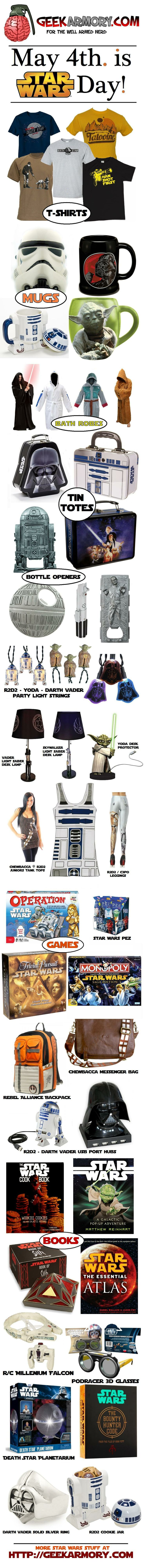 MAY THE FOURTH BE WITH YOU! - May 4th. is STAR WARS DAY! - http://geekarmory.com/?s=star+wars