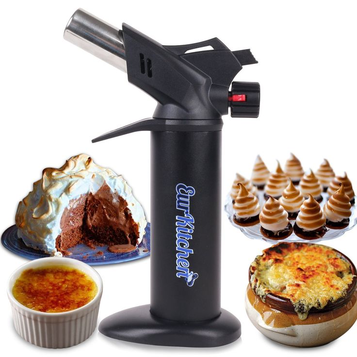 nice EurKitchen Professional-Grade Culinary Torch - Turn up the Heat on Unlimited Sweet and Savory Dishes with this Cooking Torch - Great for Industrial Uses (Soldering and Brazing) - Butane not included