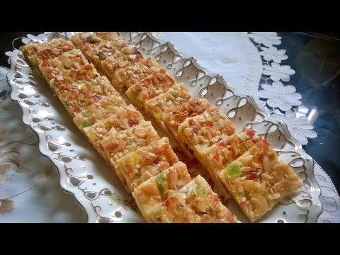 مربعات الصابلي بنوكة اللوز و الفواكه المعسلة , sablé prestige au nougat ,  YouTube