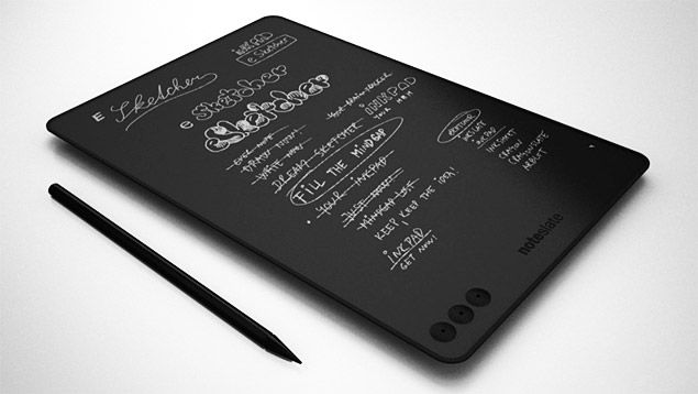 """NoteSlate - upcoming (currently in R & D) 13"""" touchscreen (750 × 1080) e-ink tablet capable of recording hand written notes, with stylus.Notesl Esketch, Hands Written, Back To Schools, Gadgets, Notesl Tablet, Display, Design, Black, Pens"""