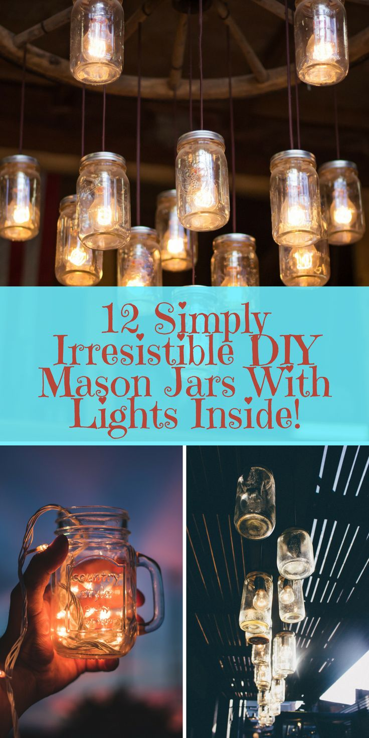 252 best rustic wedding decorations to consider images on pinterest beautify your home with any one of these clever 12 diy mason jar lights httpswithnaturalgusto12 diy mason jars with lights inside mason jar junglespirit Choice Image