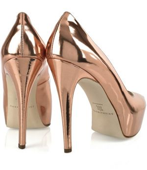 Brian Atwood shoes. I wish I had rose gold shoes, but I certainly cannot stand in the monster heels. ;-)