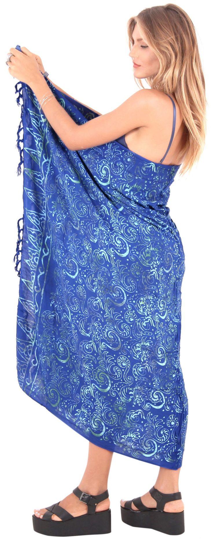 La Leela Sarong Bathing Suit Pareo Wrap Bikini Cover up Womens Skirt Swimsuit Swimwear – LIGHT BLUE- 901595