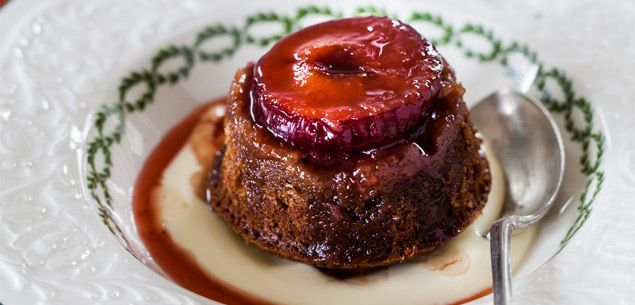 Fresh Plum and Ginger Puddings - Dessert - Food & recipes - Recipes - New Zealand Woman's Weekly