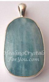 Aquamarine Pendant ~ An Aries Birthstone ♥ Excellent to stimulate the throat chakra #ariesbirthstone #aquamarinependant