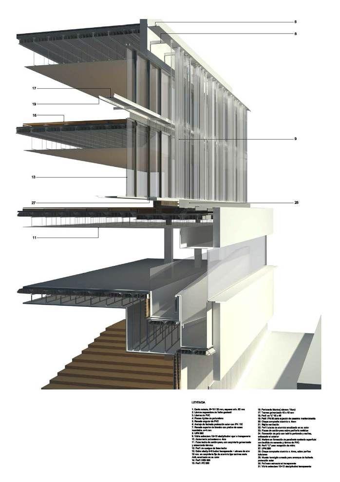 Render section detail - Ayuntamiento de Archidona by Ramon Fernandez - Alonso