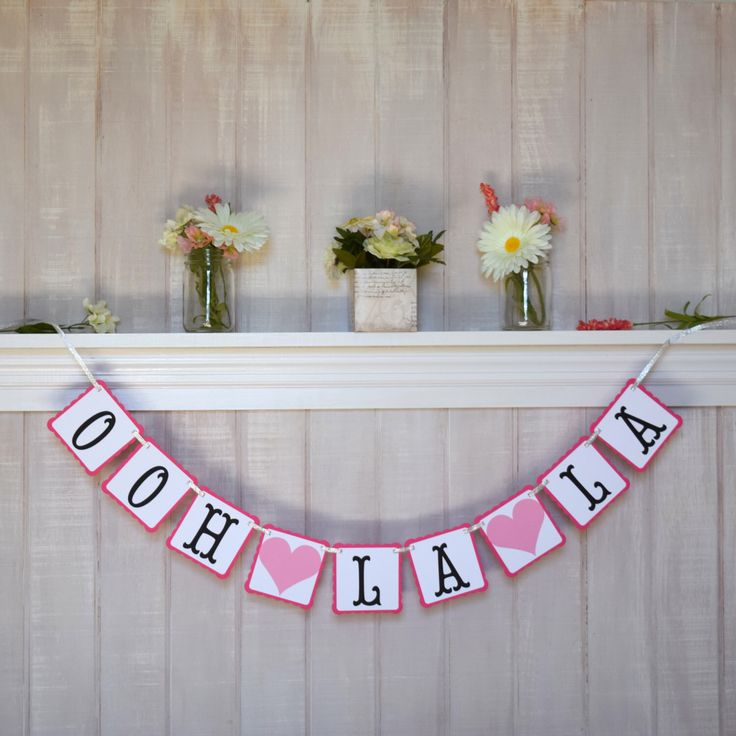 Bridal Shower Decoration - Ooh La La Banner - Paris Bridal Shower Garland - Bachelorette Banner - Paris Theme Party Decor - Baby Shower by MistyandMe on Etsy https://www.etsy.com/listing/174628934/bridal-shower-decoration-ooh-la-la