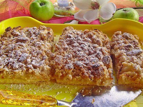 Zutaten     300 g  Mehl  200 g  Margarine oder Butter  100 g  Zucker  1  Ei(er)  1 Pck.  Vanillinzucker  6  Äpfel, z. B. Elstar  ...