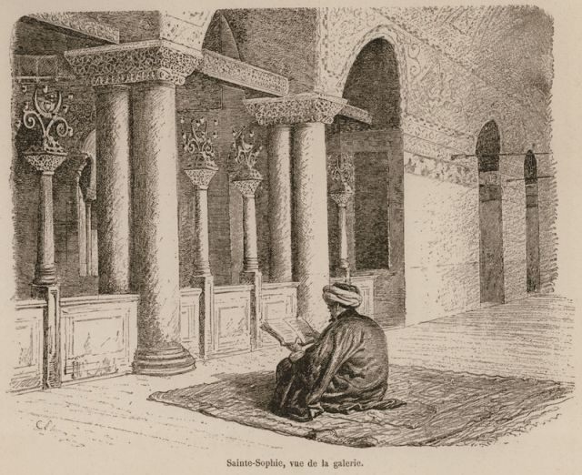 The Upper Gallery in Hagia Sophia.1883