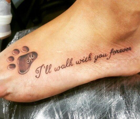 My dogs paw tatto