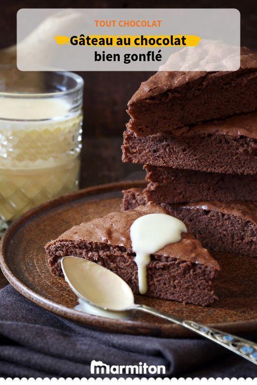 On Adore Le Moelleux De Ce Gâteau Au Chocolat Bien Gonflé