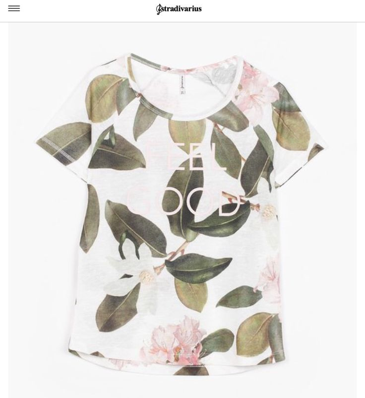 Feel Good floral print t-shirt from Stradivarius.