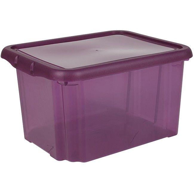 Box de rangement plastique 18 L prune