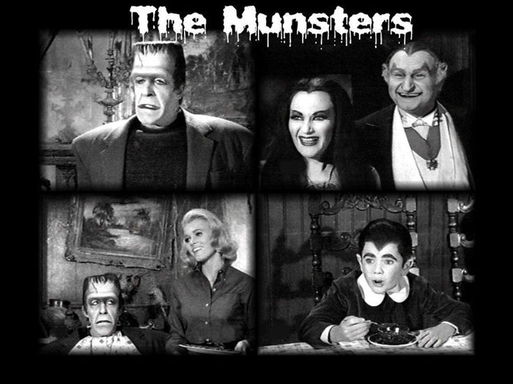 The Munsters first came on TV in 1964 and ran concurrently with The Addams Family. The Munsters were also fun to watch because they were just as strange and weird as the Addams family!!