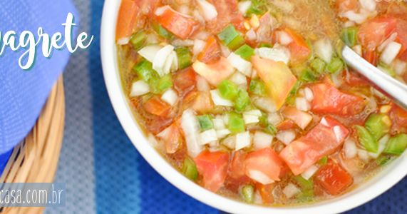 Uma receita de molho vinagrete especial para fazer bonito no churrasco com os amigos nesse verão.