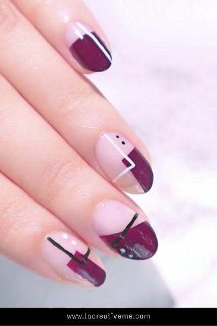 Fall Geometric Nail Art - La creme