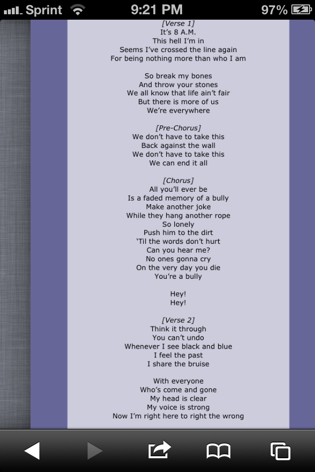 Shinedown:Bully Lyrics | LyricWiki | FANDOM powered by Wikia