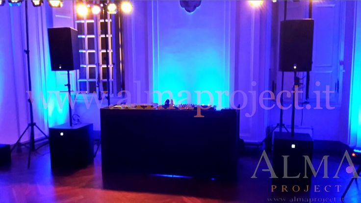 ALMA PROJECT - Villa Montalto - Rotaract - EVA console - black - tri led - uplights