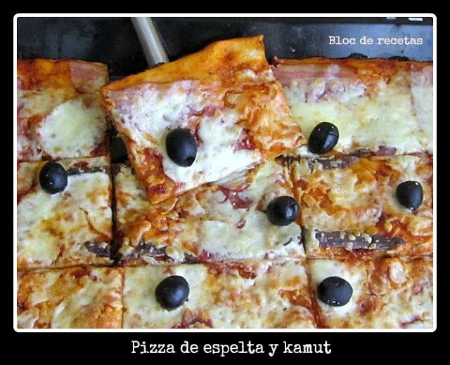 Bloc de recetas: Pizza de espelta y kamut