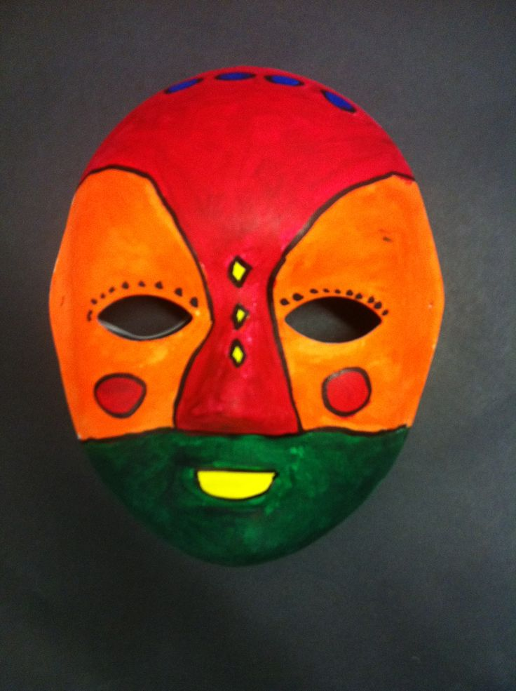 Tunisian Masks- art SS- we did these and hung them in our gym - turned out great