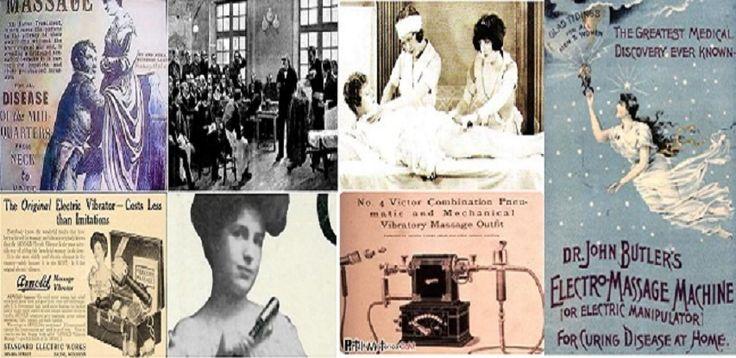 La histeria femenina - Desde 1870 los médicos dispusieron del primer vibrador mecánico y en 1873 se empleó el primer vibrador electromecánico para  'masajes pélvicos' en un asilo de Francia.